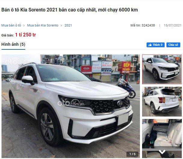 """Đi tìm lý do vì sao Kia Sorento 2021 liên tục lên sàn xe cũ, Santa Fe lưới người dùng tìm """"mỏi mắt"""" a5"""