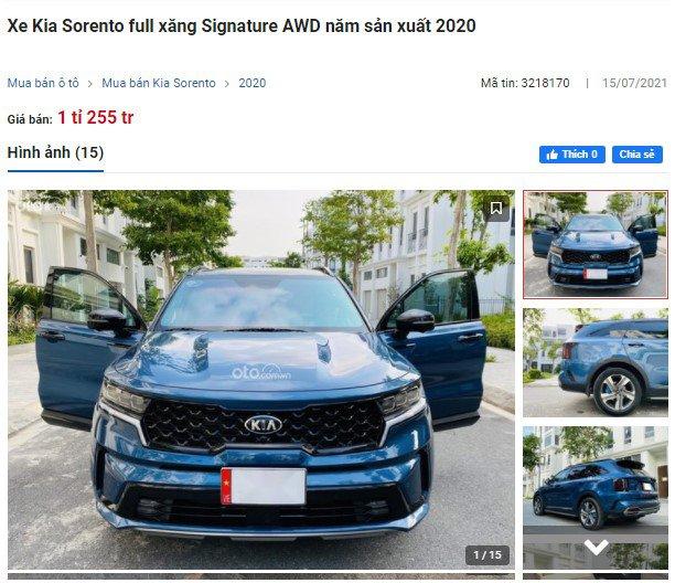 """Đi tìm lý do vì sao Kia Sorento 2021 liên tục lên sàn xe cũ, Santa Fe lưới người dùng tìm """"mỏi mắt"""" a3"""
