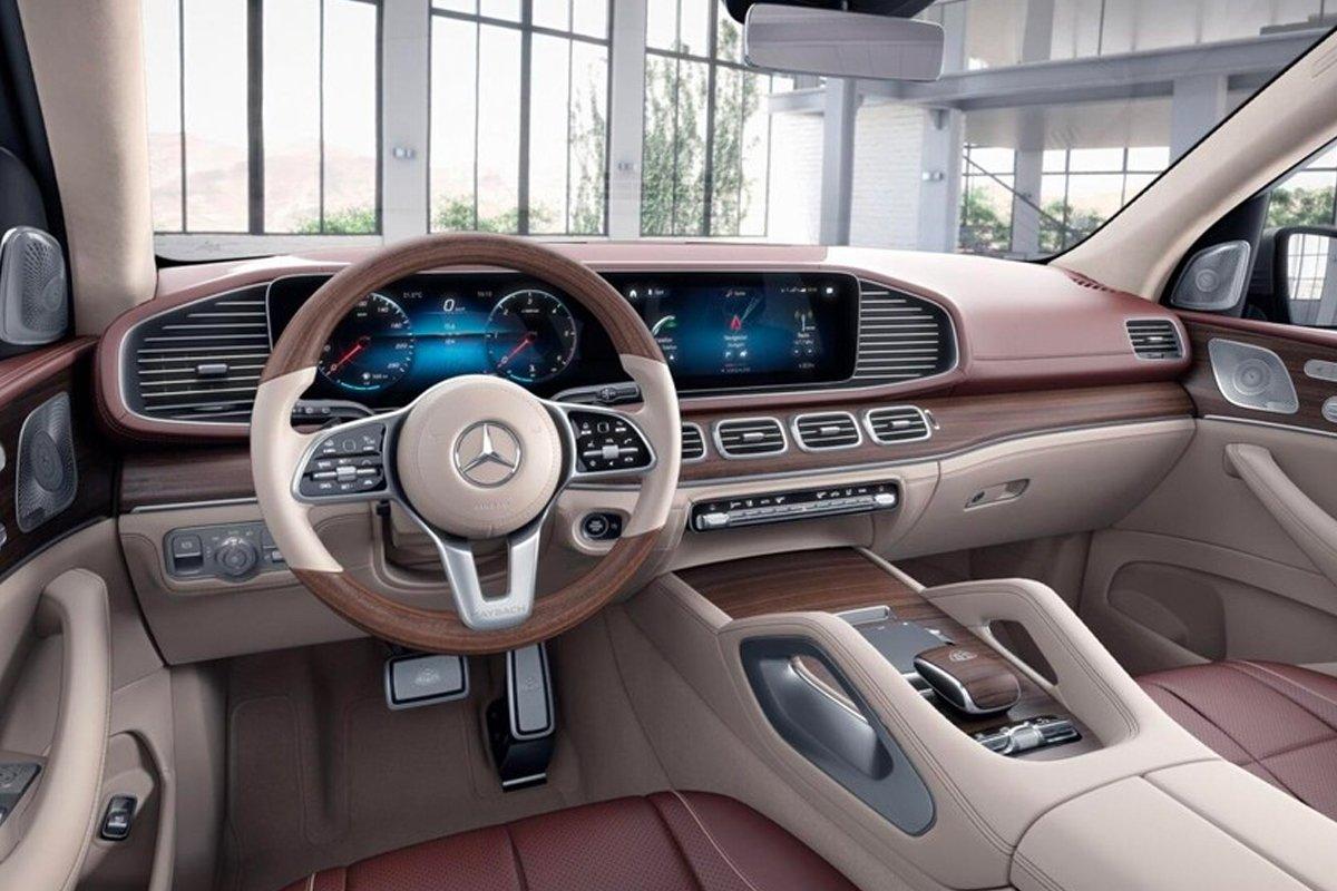 Nội thất của Mercedes-Maybach GLS 600 4MATIC vô cùng rộng rãi.
