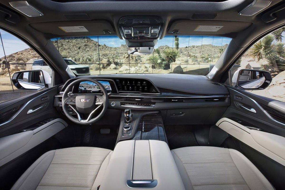 khoang ca bin xe Cadillac Escalade2021.