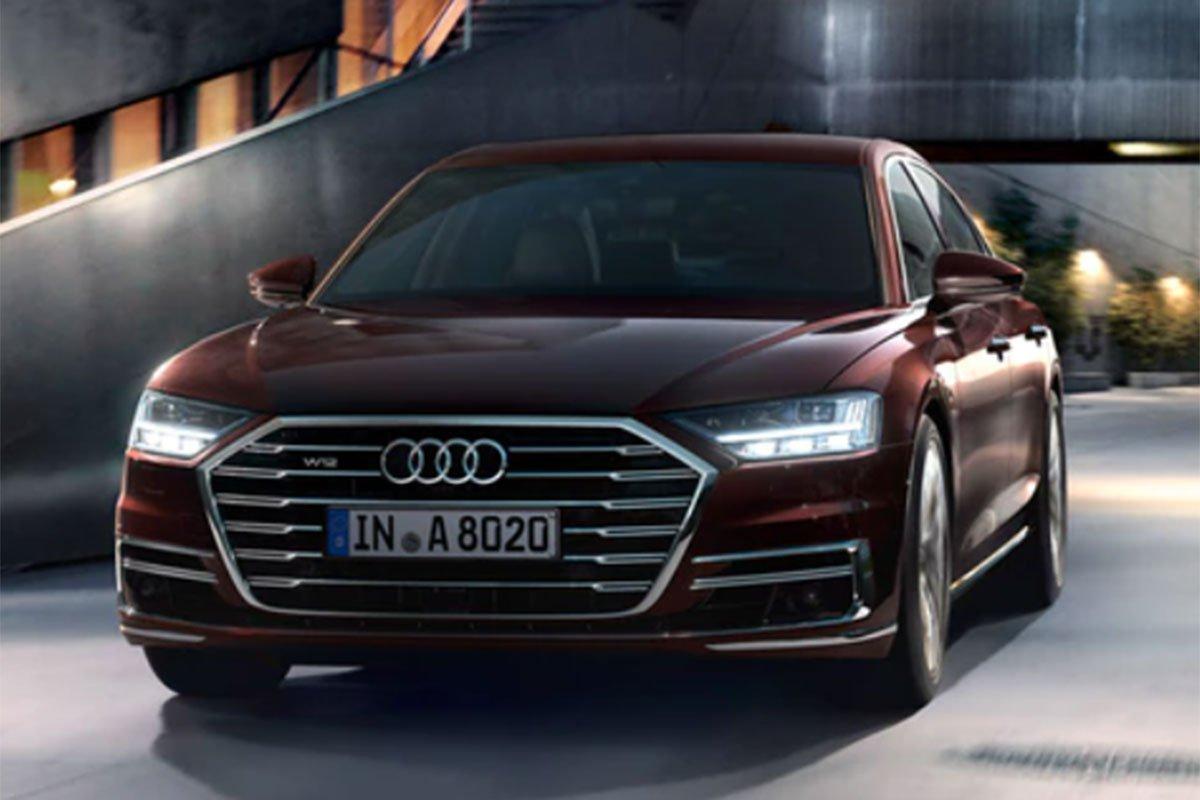 đầu xe Audi A8 2021.