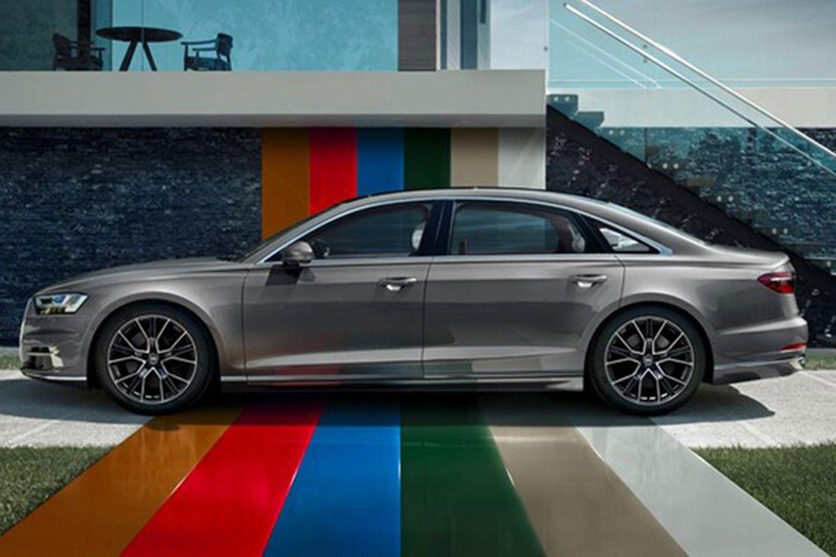 thân xe Audi A8 2021.