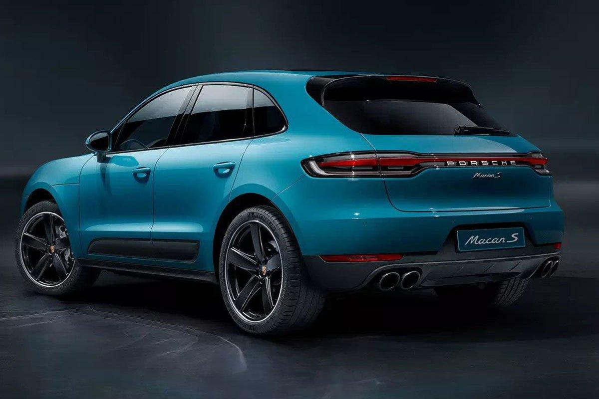 đuôi xe Porsche Macan.