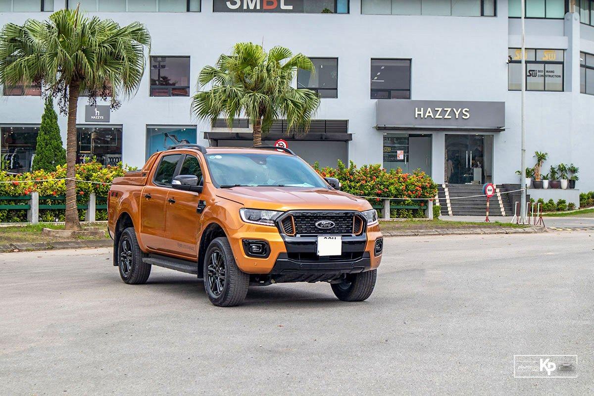 Ảnh đầu xe Ford Ranger Wildtrak 2021