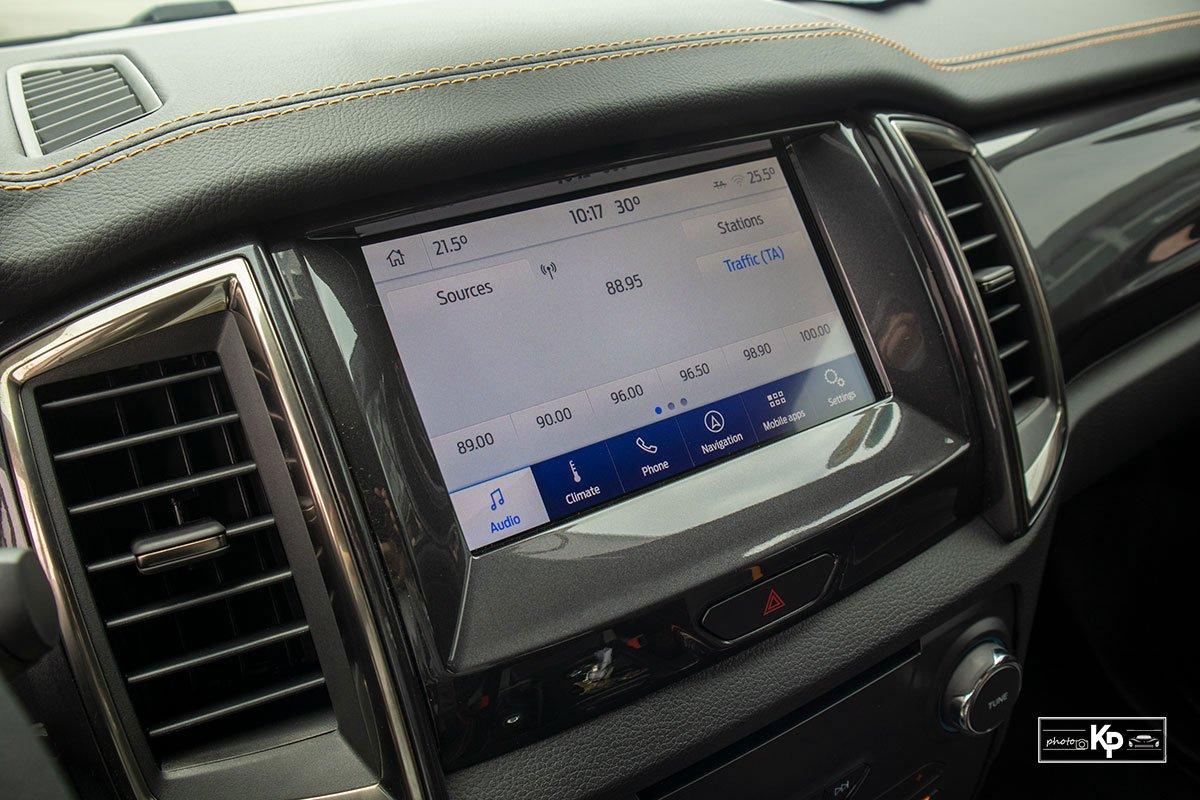 Ảnh màn hình xe Ford Ranger Wildtrak 2021