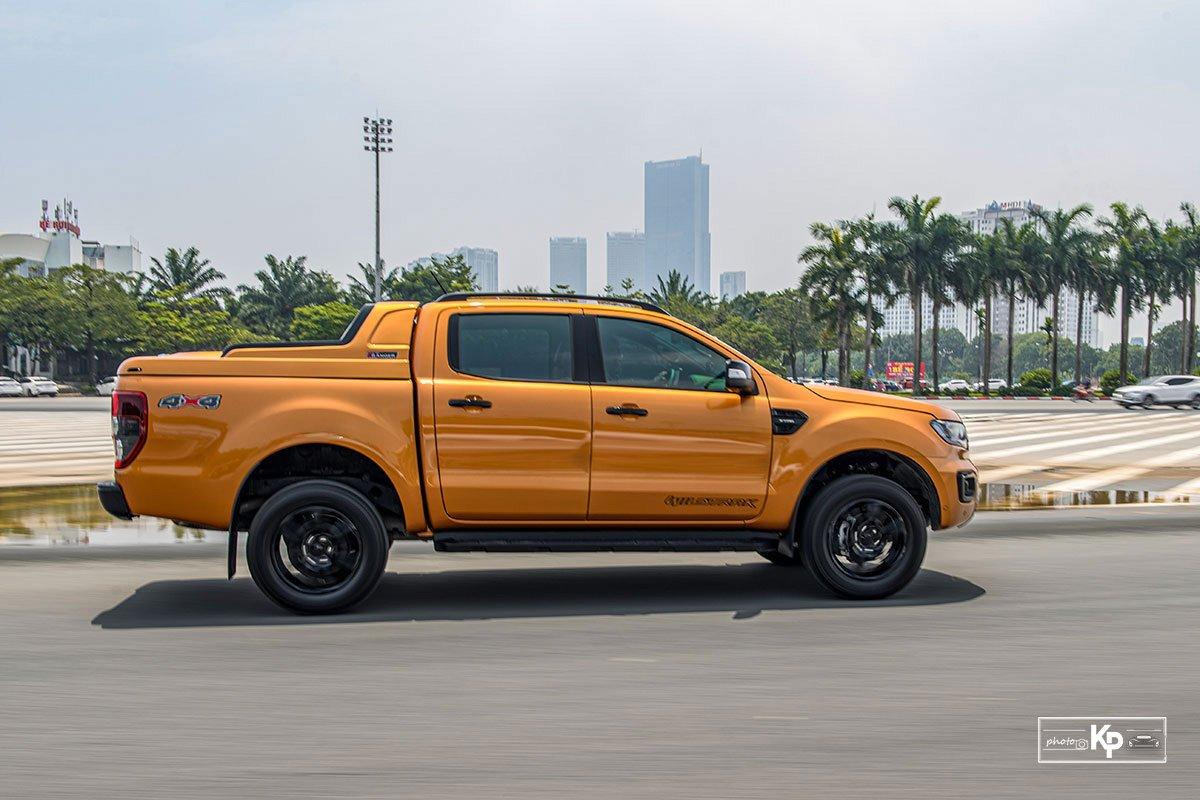 Ảnh thân xe Ford Ranger Wildtrak 2021