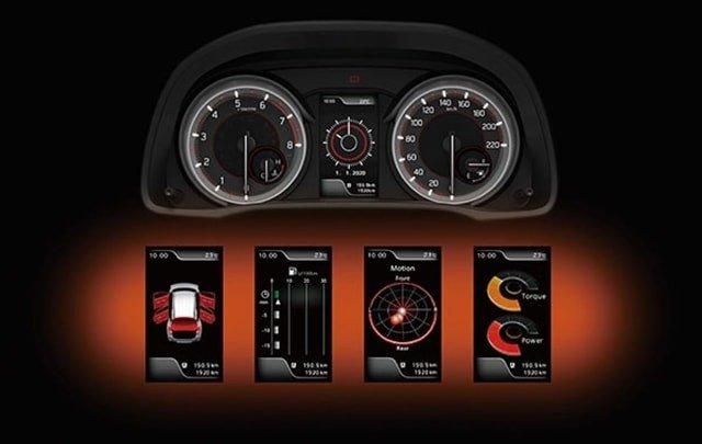 đồng hồ hiển thị thông tin trên Suzuki XL7.