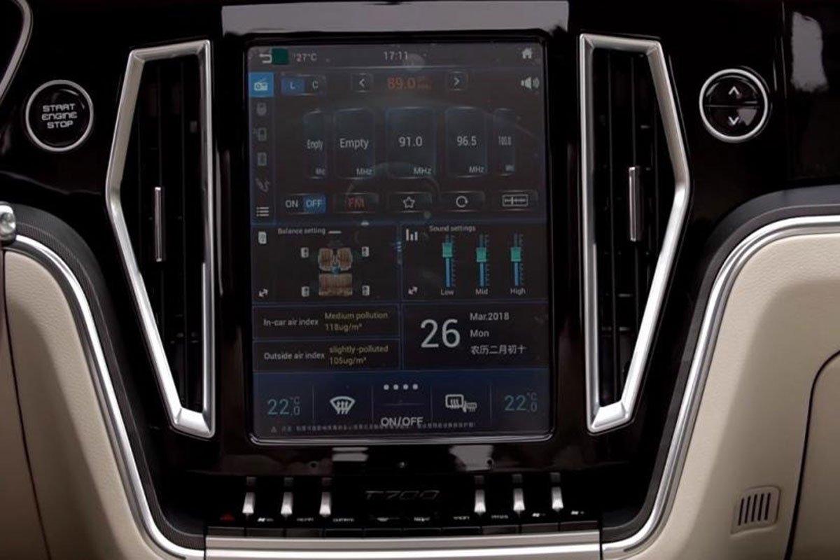 màn hình cảm ứng xe Zotye Z8 2021