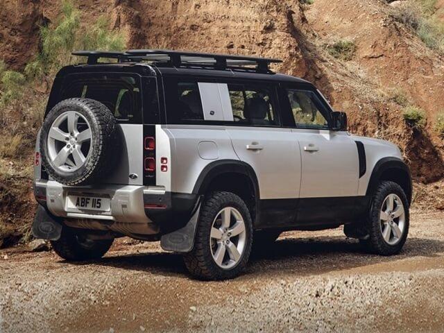 đuôi xe Land Rover Defender.