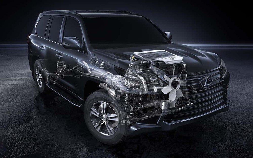 Động cơ xe Lexus LX 570 2021.