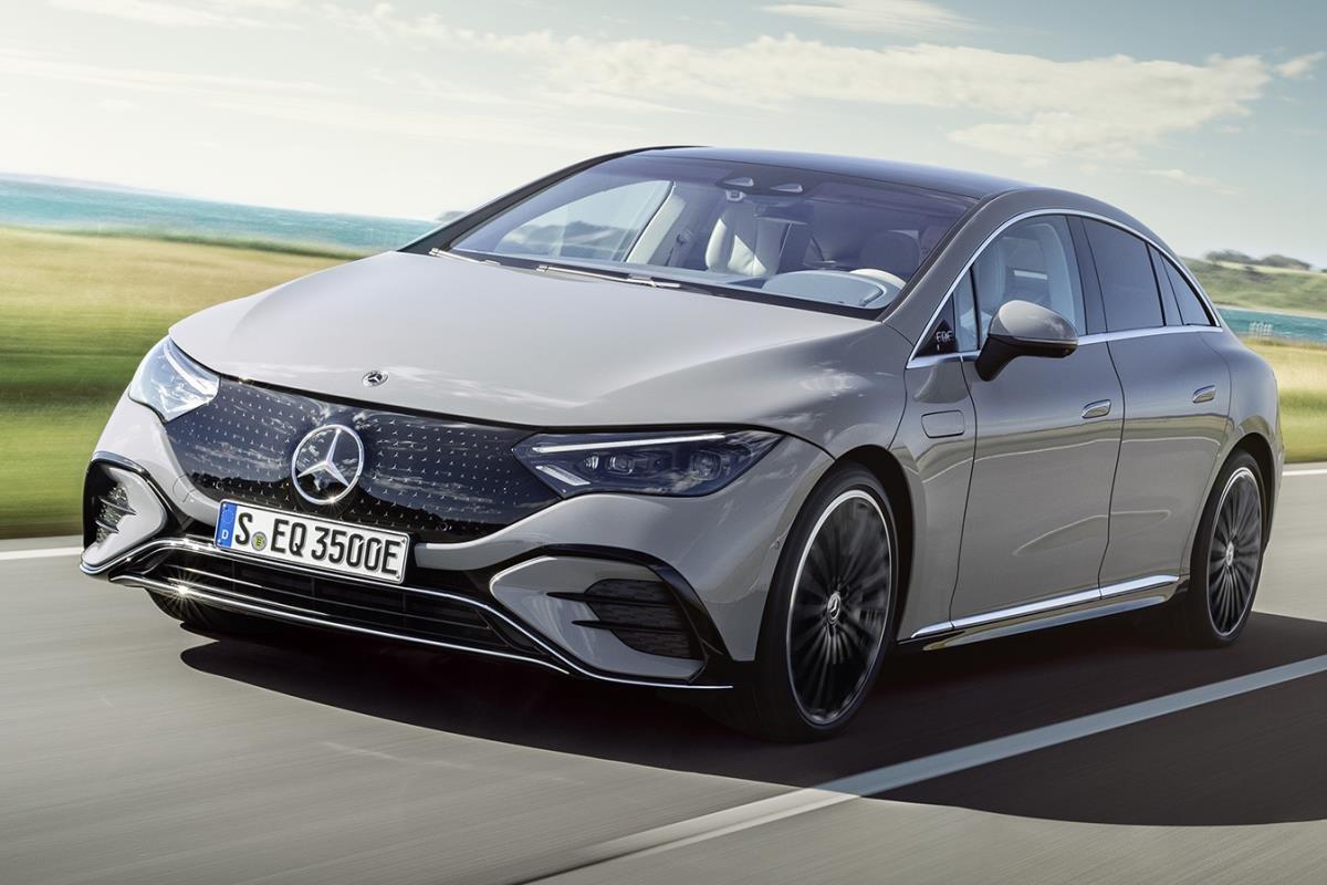 Mercedes-Benz EQE xám mặt trước