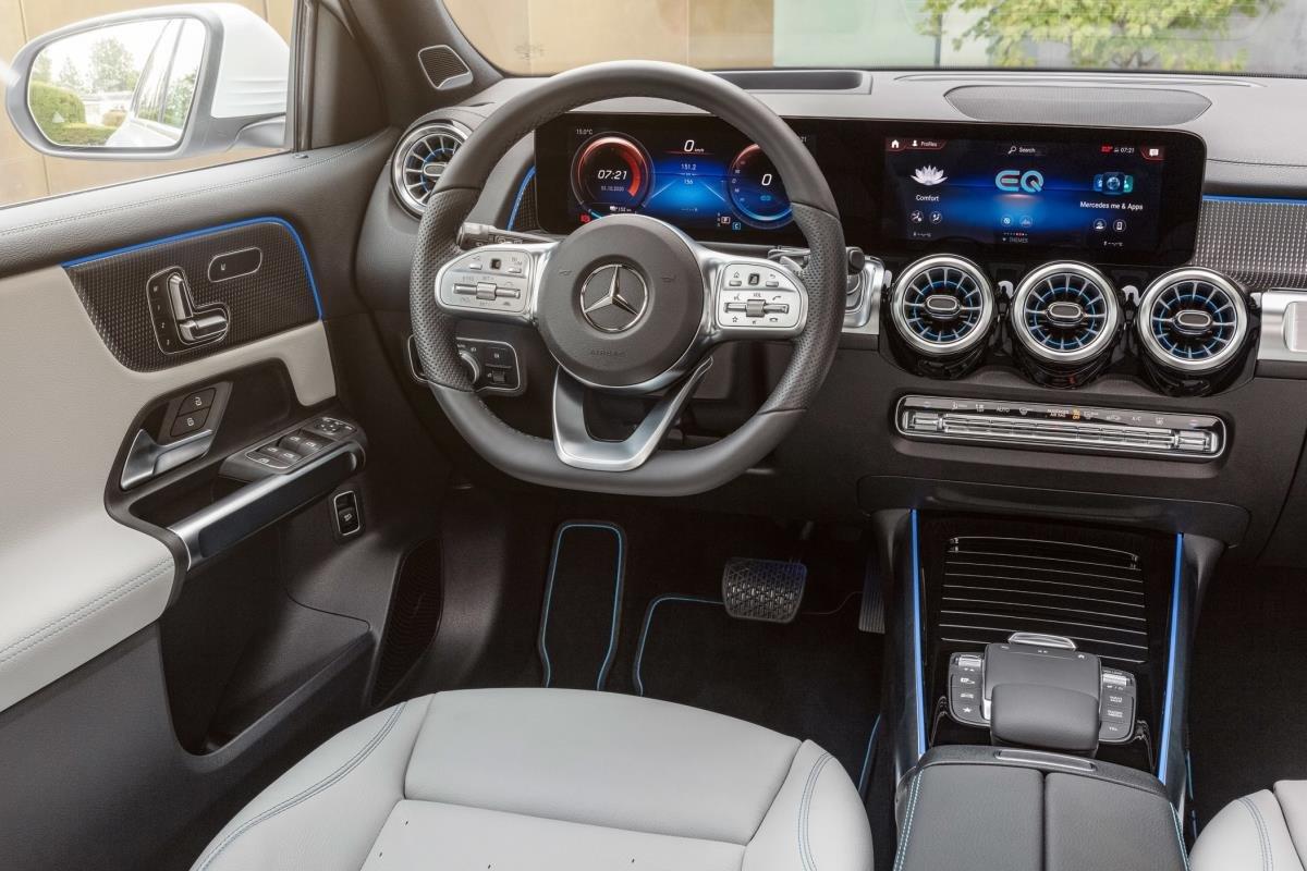 Mercedes EQB 2021 nội thất 1