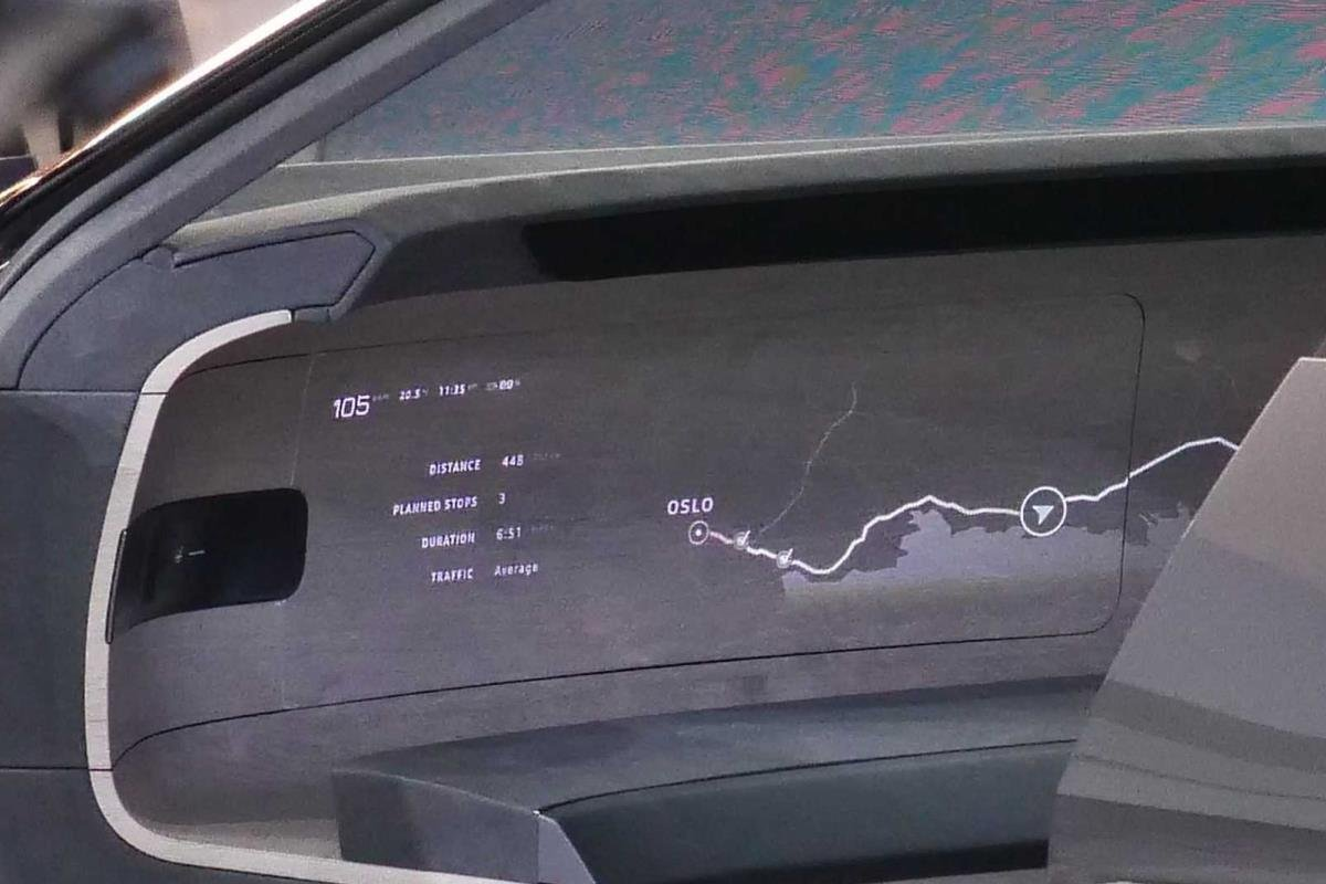 Audi Grandsphere Concept bảng thông tin 1