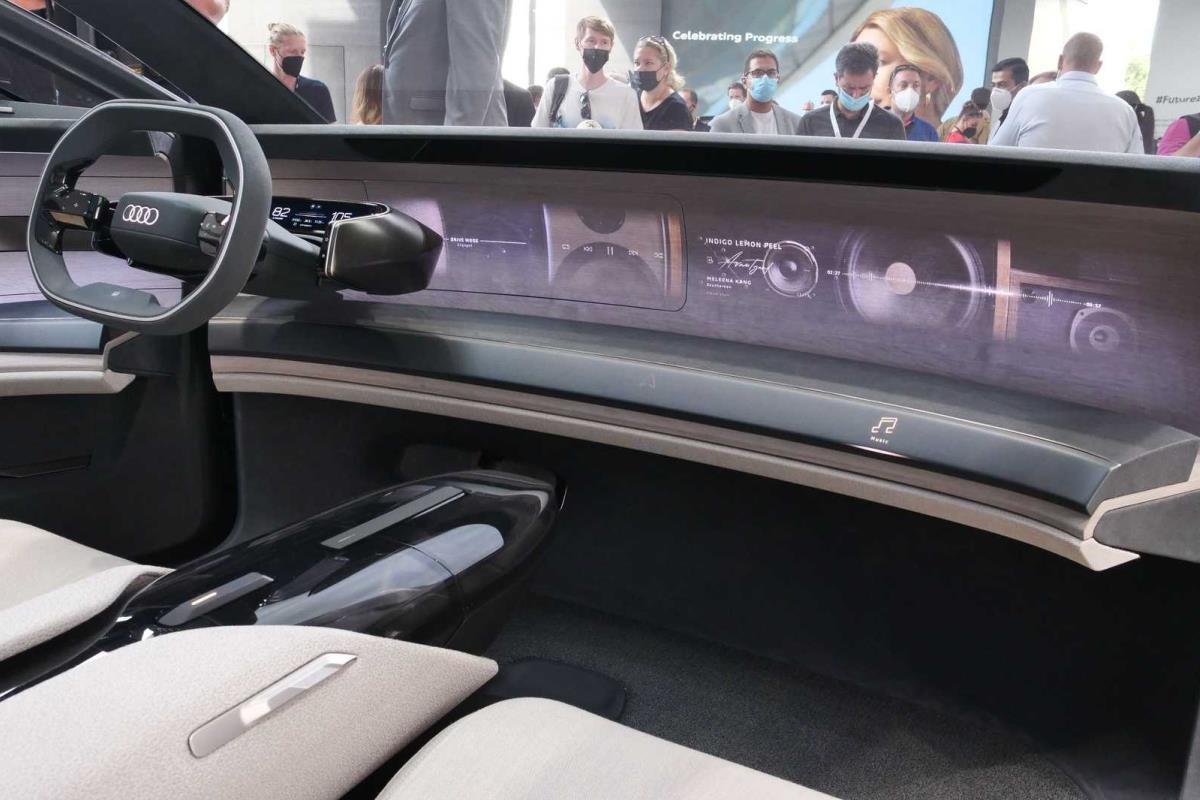 Audi Grandsphere Concept nội thất 1