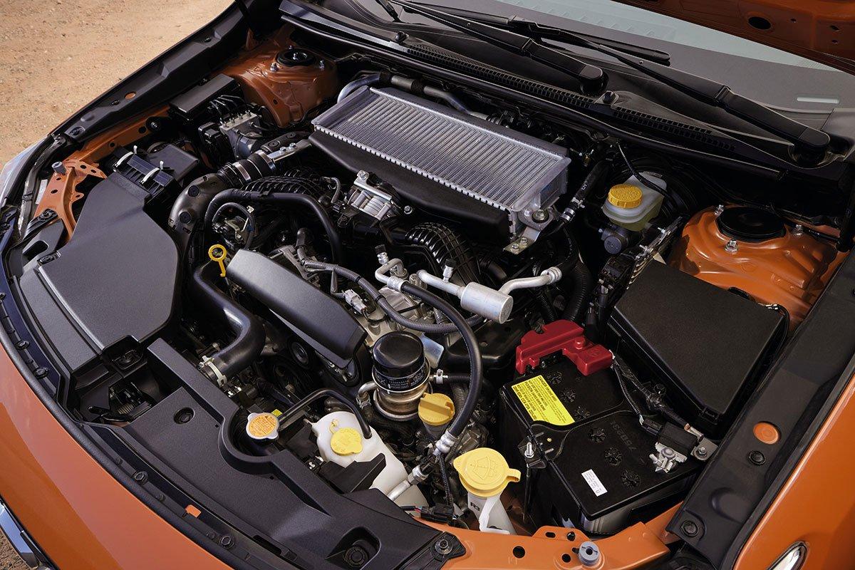 Subaru WRX 2022 sử dụng động cơ mới.