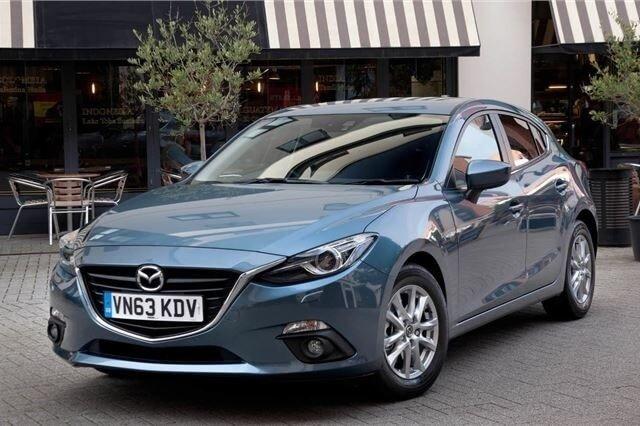 Ngoại hình xe Mazda 3 2014-2019 cũ.