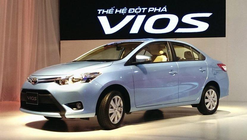 Ngoại hình Toyota Vios cũ đời 2014.