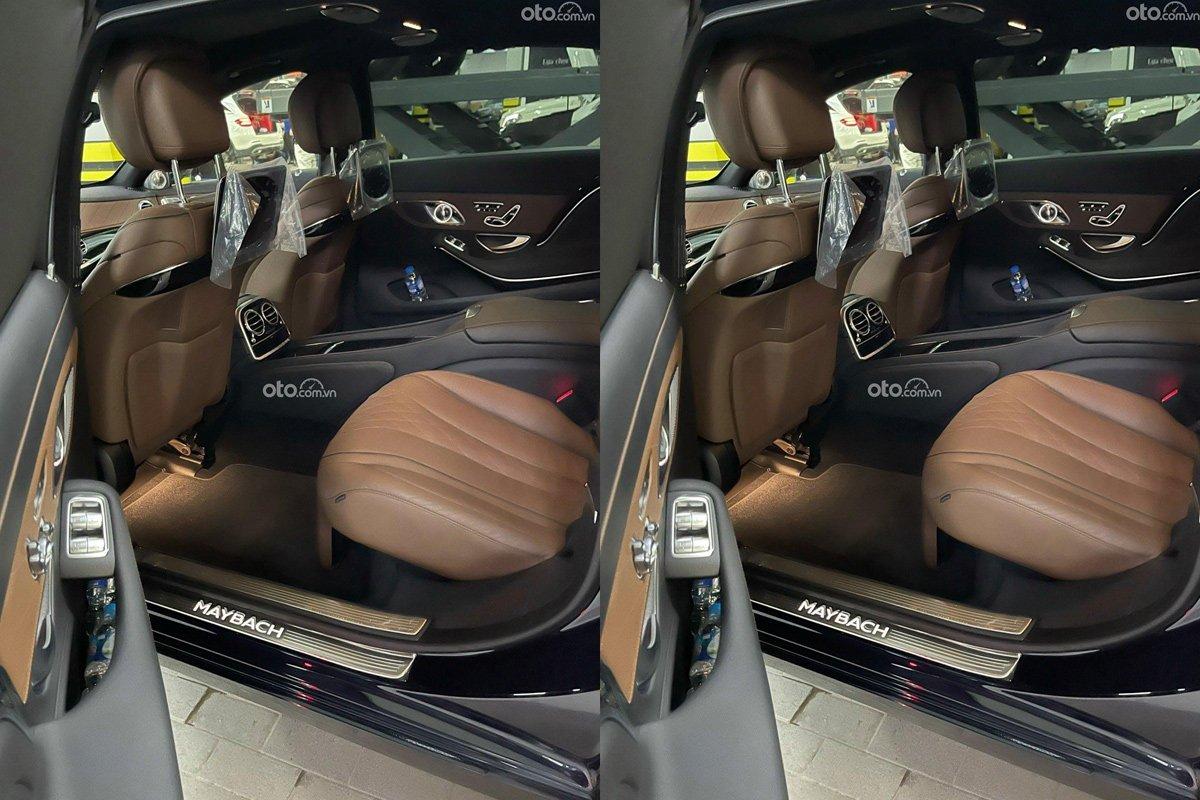 Nội thất Mercedes-Benz S450 Maybach vẫn còn rất mới.