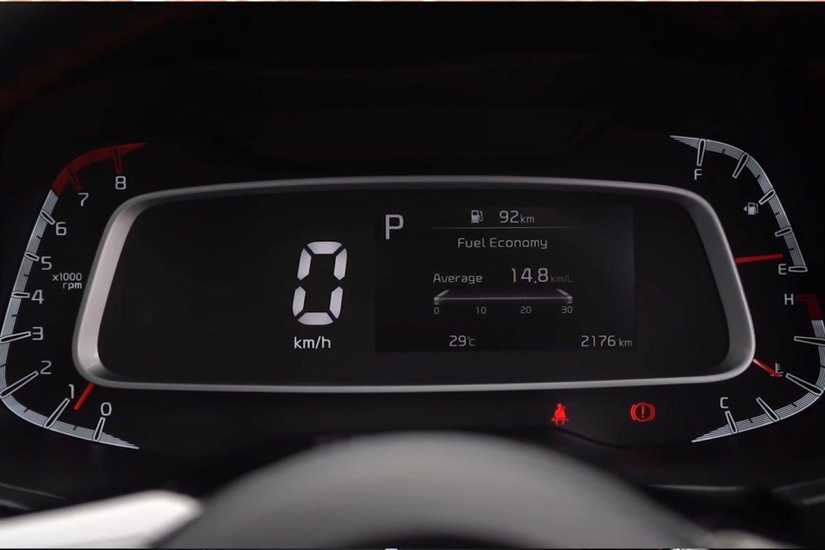 đồng hồ xe KIA Sonet 2021.