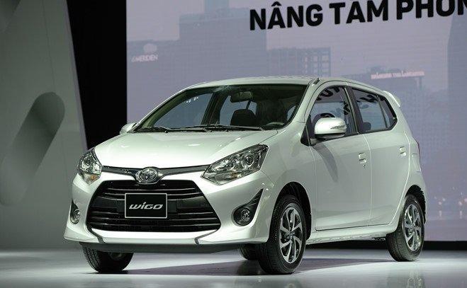 Ngoại hình Toyota Wigo cũ đời 2018 - 2019.