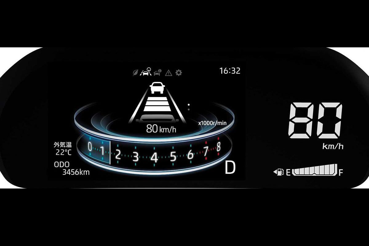 đồng hồ xe Toyota Raize 2021