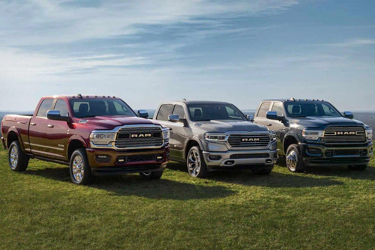 Những chiếc xe bán tải RAM nhận được đánh giá cao.