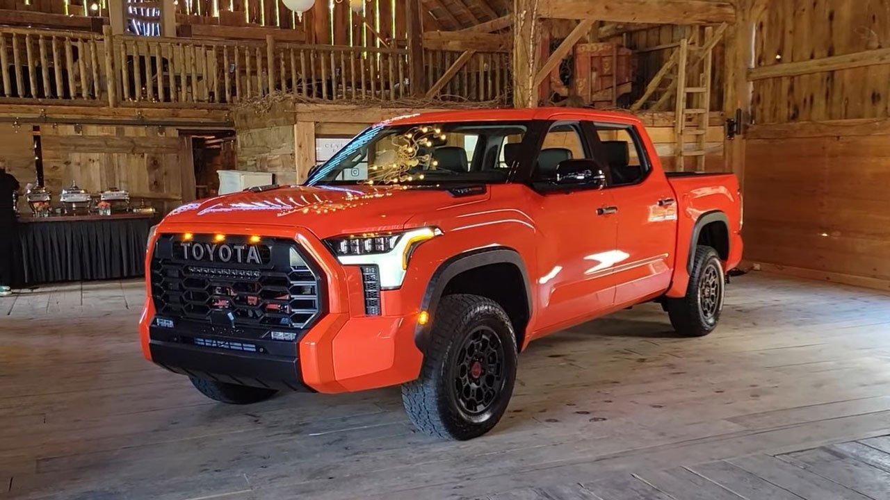 Ảnh thực tế Toyota Tundra 2022 vừa ra mắt, nội thất đẹp xuất sắc A1