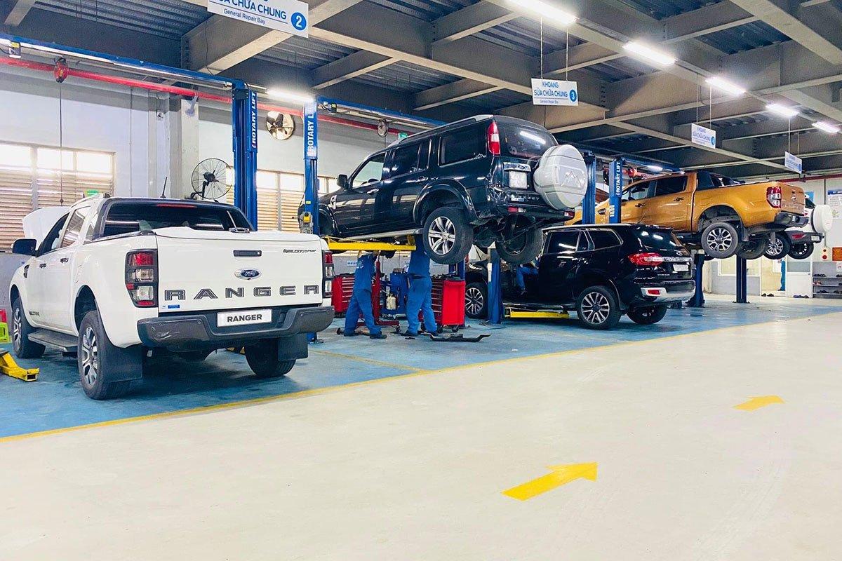 Ford triển khai chương trình bảo dưỡng nhanh cho khách hàng chỉ 60 phút.