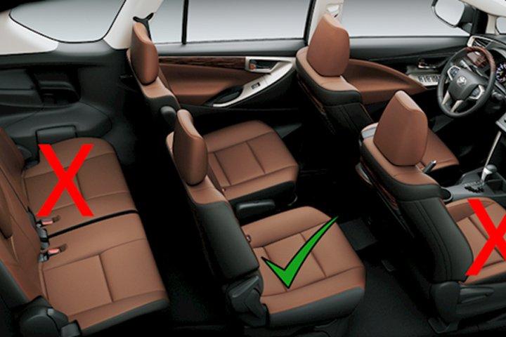 Vị trí ngồi an toàn trên xe SUV.
