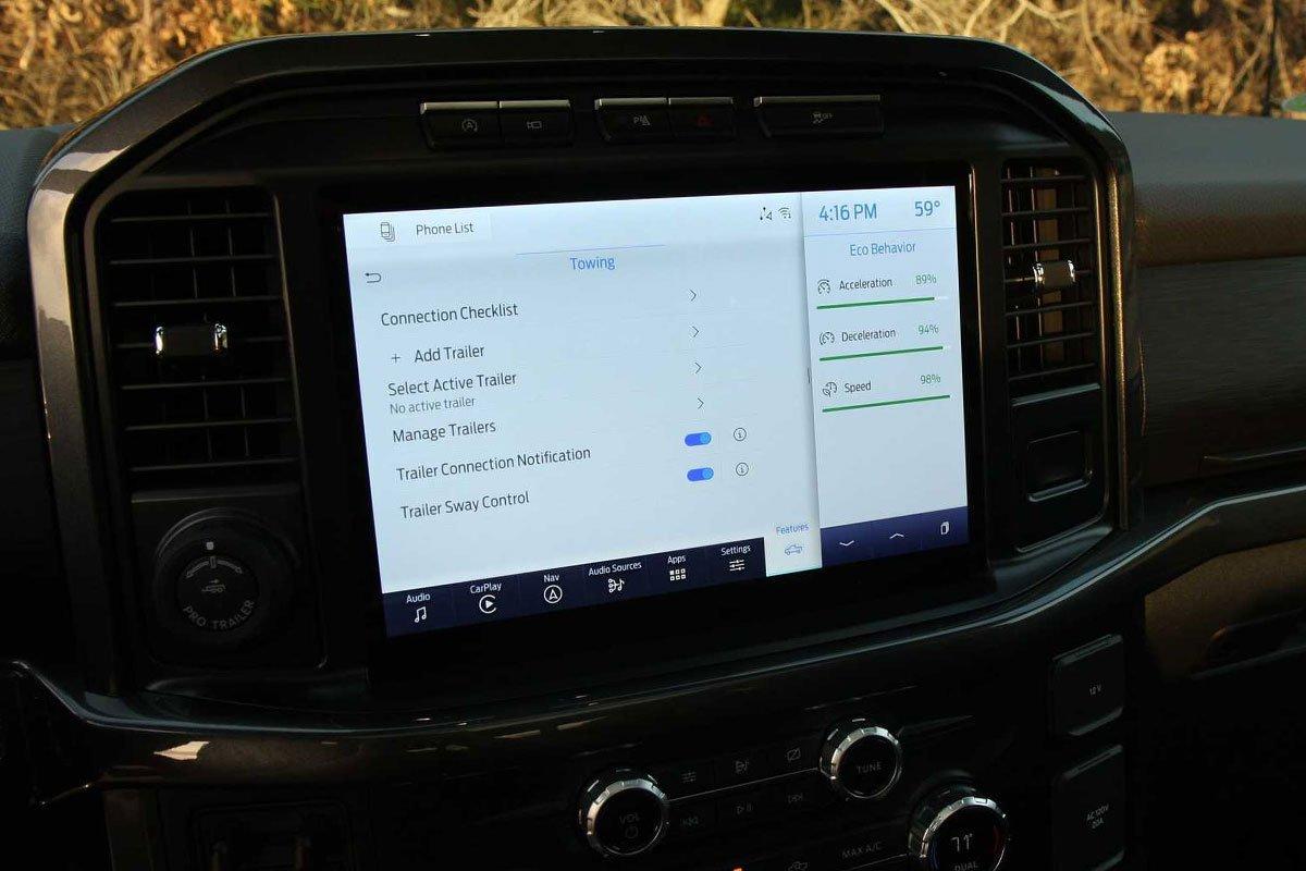 màn hình xe Ford F-150 2021.