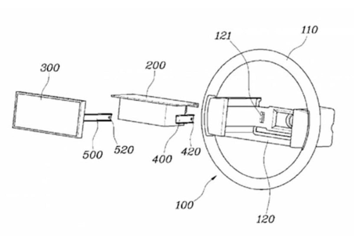 Hyundai xin cấp bằng sáng chế màn hình trên vô lăng.