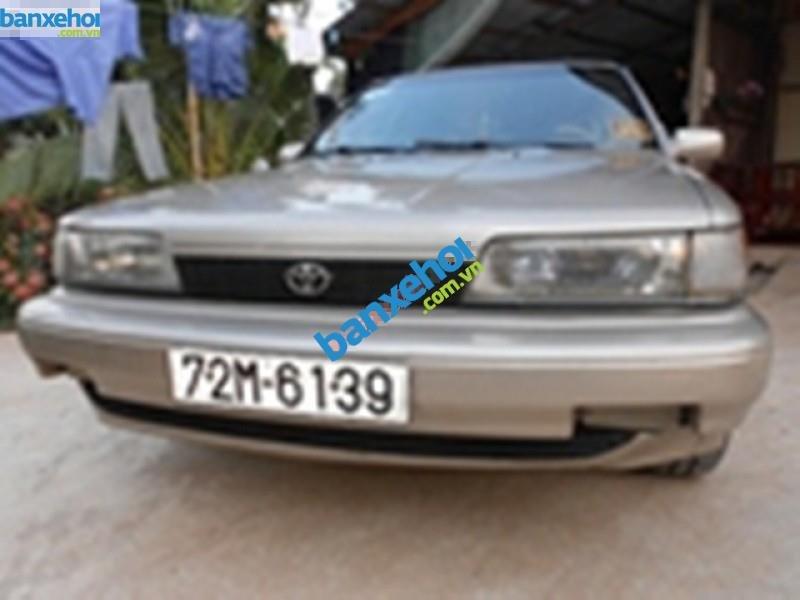 Cần bán gấp Toyota Camry năm sản xuất 1991, màu vàng, nhập khẩu, giá chỉ 160 triệu-0