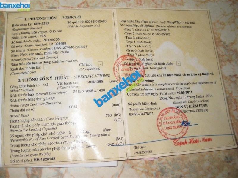 Xe Kia Pride CD5 2000-9