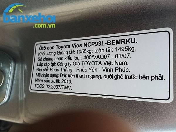 Xe Toyota Vios E 2010-4