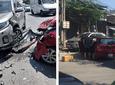 Hiện trường vụ tai nạn giữa 2 xe ô tô ở Tam Trinh (Hà Nội), một tài xế tử vong nghi do đột quỵ