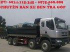 Bán xe Ben Cheng Long 4 chân (17.5 tấn) - mua xe ben Hải Âu 4 chân (310HP) 2 cầu