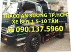 TP. HCM bán Thaco Forland FLD600C, FLD600B xe BEN 6 tấn sản xuất mới, màu xanh lục, giá 419tr