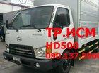 TP. HCM Hyundai HD650, màu trắng, nhập khẩu, 589tr thùng mui bạt, tôn đen