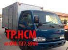 Tp.HCM Cần bán Thaco Kia K165S đời mới 2.4 tấn, màu xanh lam, thùng kín tôn lạnh