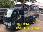 TP. HCM bán Thaco Ollin 345 đời mới 3.5 tấn, màu xanh, giá tốt mui bạt tôn đen