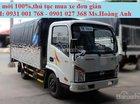 Xe tải Veam VT150 1.5 tấn, thùng mui bạt