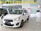"""""""Siêu hot"""" Mitsubishi Attrage mới 2018, màu trắng, nhập khẩu góp 80% xe, LH Lê Nguyệt: 0911.477.123"""