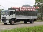 Bán xe tải Veam VPT950 tải trọng 9,3 tấn, thùng dài 7m6, cabin kép hiện đại, giá rẻ