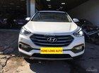 Bán Hyundai Santa Fe 2.4AT sản xuất năm 2017, máy xăng, số tự động, màu trắng