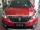 Bán xe Peugeot 3008 FL sản xuất năm 2018, màu đỏ ưu đãi lớn có xe giao ngay