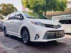 Bán ô tô Toyota Sienna 3.5 Limited Model 2018, màu trắng nội thất nâu, mới 100%