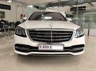 Bán Mercedes S450L 2018 mới màu trắng nội thất nâu ở Nha Trang, Khánh Hòa