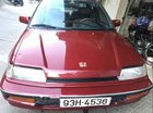 Cần bán gấp Honda Civic đời 1990, màu đỏ, nhập khẩu nguyên chiếc
