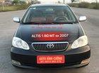 Cần bán xe Toyota Corolla Altis 1.8G MT sản xuất năm 2007, màu đen