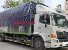 Bán xe tải thùng mui bạt Hino 500 Series FG8JPSU năm 2018, màu trắng